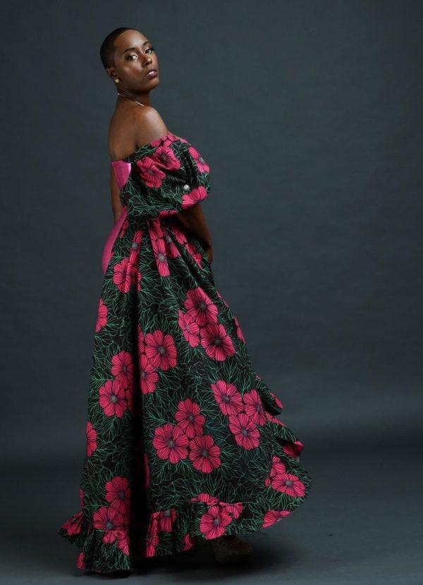 African print prom gala dress
