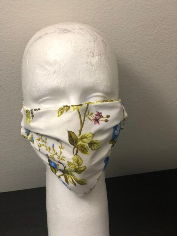 Face and mouth mask with pocket for filters , Protective soft fabric mask, Handmade in USA, washable, reusable