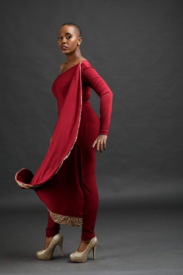 holiday red jump suit
