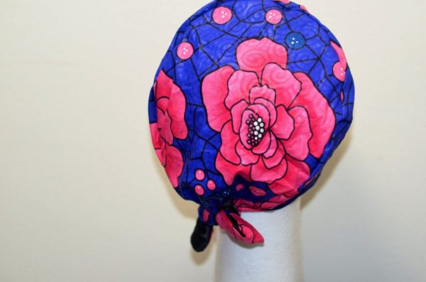 African print satin lined surgical caps for women, scrub hats for nurses, gift for nurses and doctors