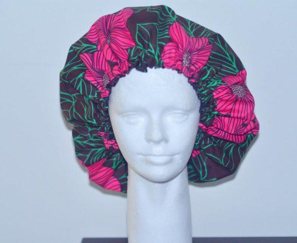 Ankara Satin lined bonnet Adult, kids, different sizes