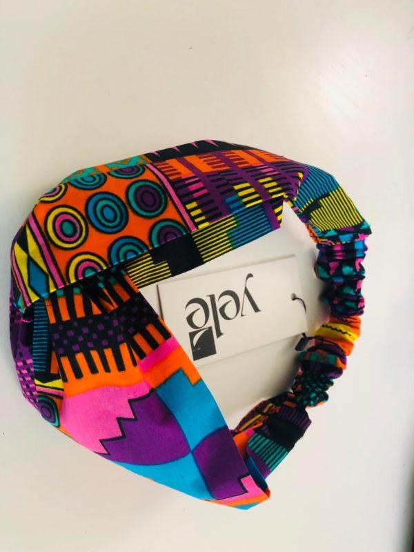 No slip, yoga women headband with African print fabric