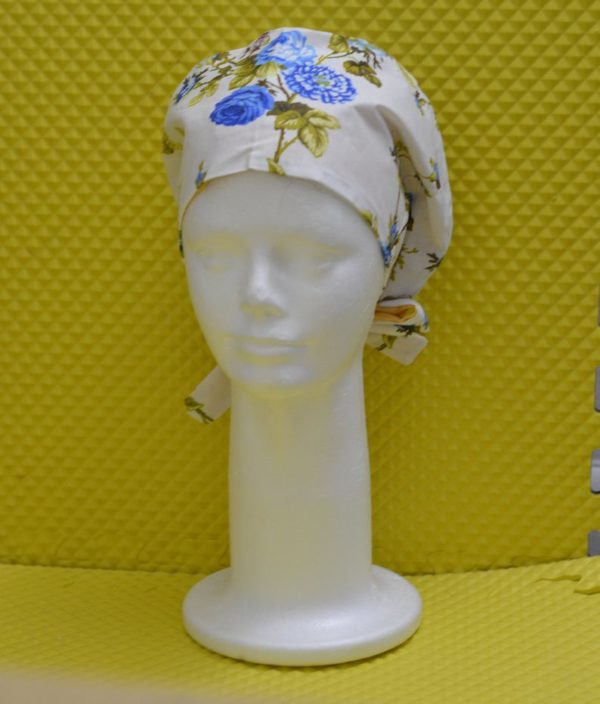 Satin lined scrub caps for women,made with floral Cotton , reusable scrub cap , nurse gift, surgical cap women nurses.