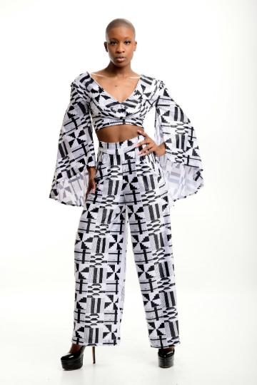 African print mud cloth coerd pant sent