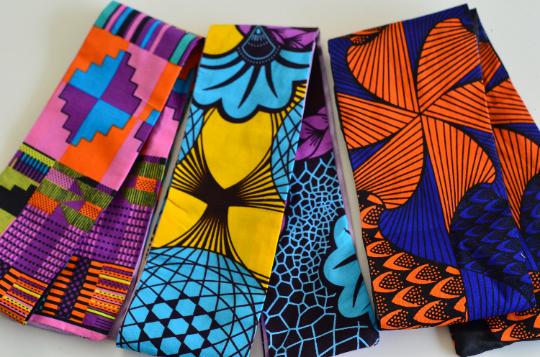 African print head band