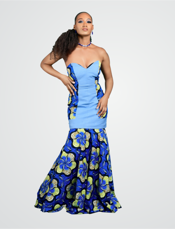 "The ""Morenikeji"" jean-ankara dress"